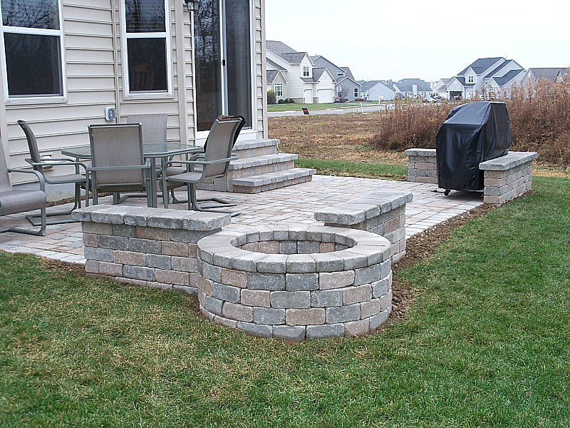 Paver Patios Patio Design Newark Columbus Ohio Oh